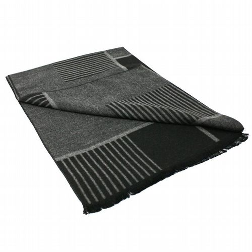 Bamboo Scarf - Black & Grey Tiled